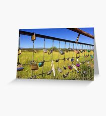 locks of love, marfa, texas Greeting Card