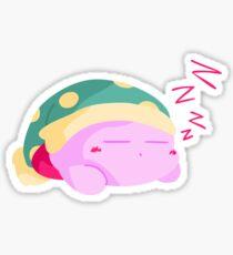 Sleep Kirby Minimalist  Sticker