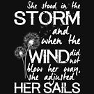 She stood in the storm...beautiful quote (white text) by stylecomfy