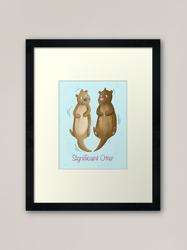 Alternate view of Significant Otter Framed Art Print