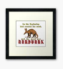 The very first word Framed Print