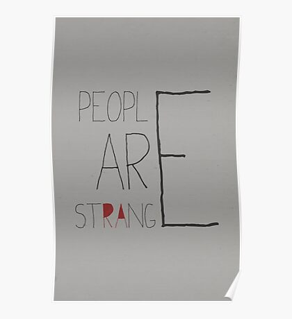 People are strange Poster