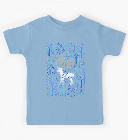 Deericorn In Blue Kids Clothes