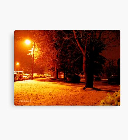 """""""A Snowy Evening in Knoxville"""" (a series, no.4) Canvas Print"""