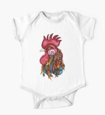 Tribal Rooster Design One Piece - Short Sleeve