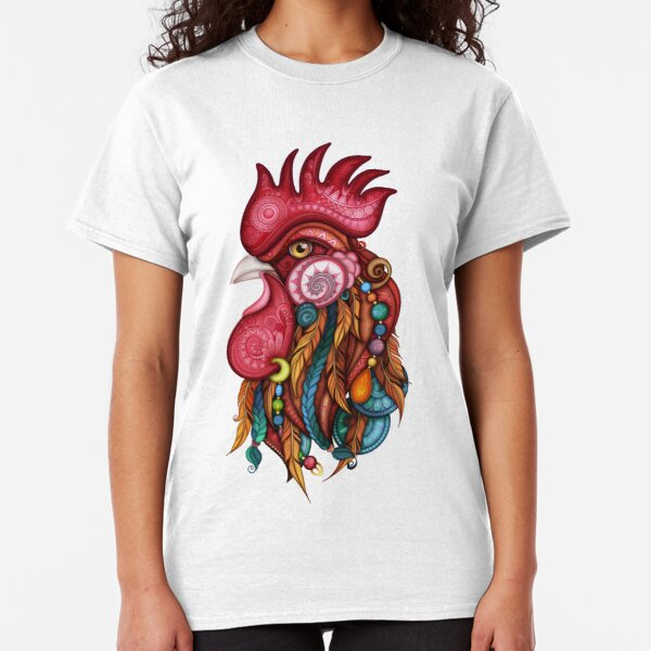 Tribal Rooster Design Classic T-Shirt