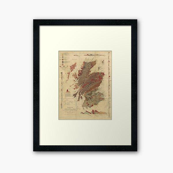 Vintage Geological Map of Scotland Framed Art Print