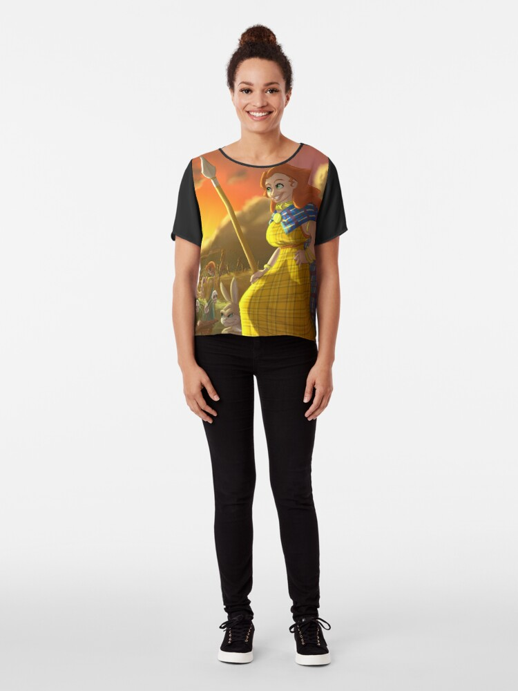 Alternate view of Boudica - Rejected Princesses Chiffon Top