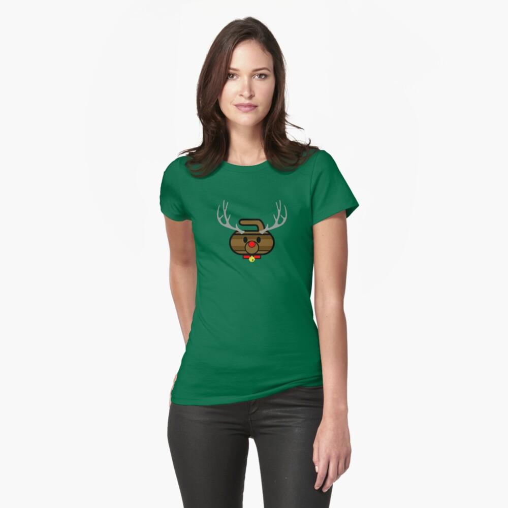 Rudolph Rocks! - Curling Rockers Womens T-Shirt Front