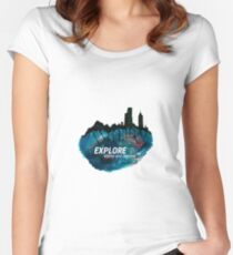 Explore Women's Fitted Scoop T-Shirt