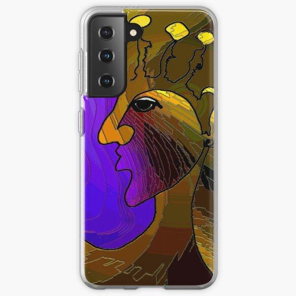 Purple Bag lady Samsung Galaxy Soft Case