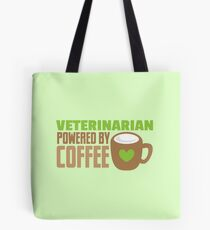veterinarian powered by coffee Tote Bag