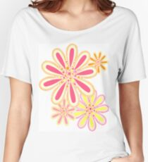Petals and Dots Women's Relaxed Fit T-Shirt
