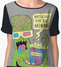 Alien Monster Movie Women's Chiffon Top