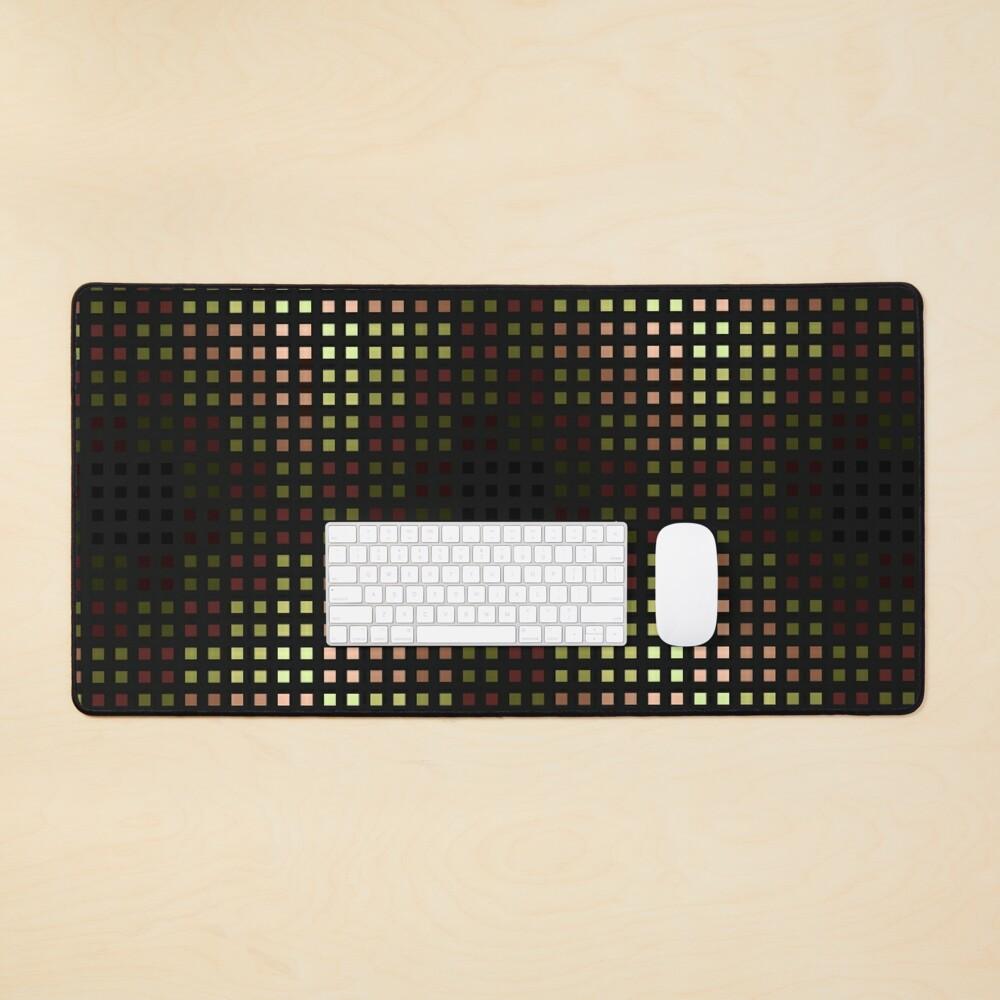 Bingi Bongi skewed color grid  Mouse Pad