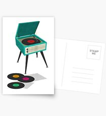 Record Player Postcards