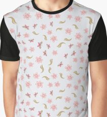 Color floral pattern with flowers and butterfly Graphic T-Shirt