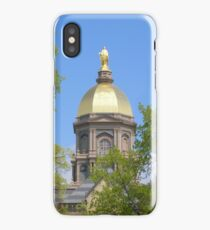 Golden Dome Through the Trees-Notre Dame iPhone Case/Skin