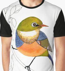 Silvereye bird Graphic T-Shirt