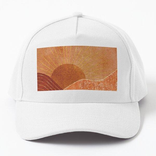 Earthy warm golden sunrise Baseball Cap