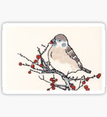 Winter Sparrow Sticker