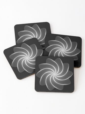 Polar Flower 002 Coasters
