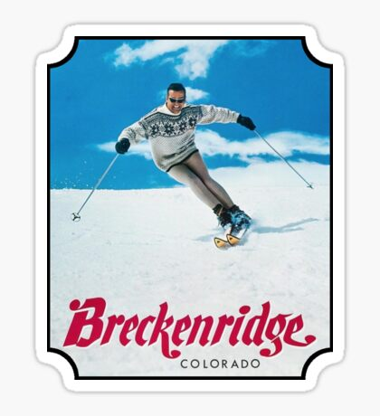 Breckenridge Colorado Vintage Travel Decal Sticker