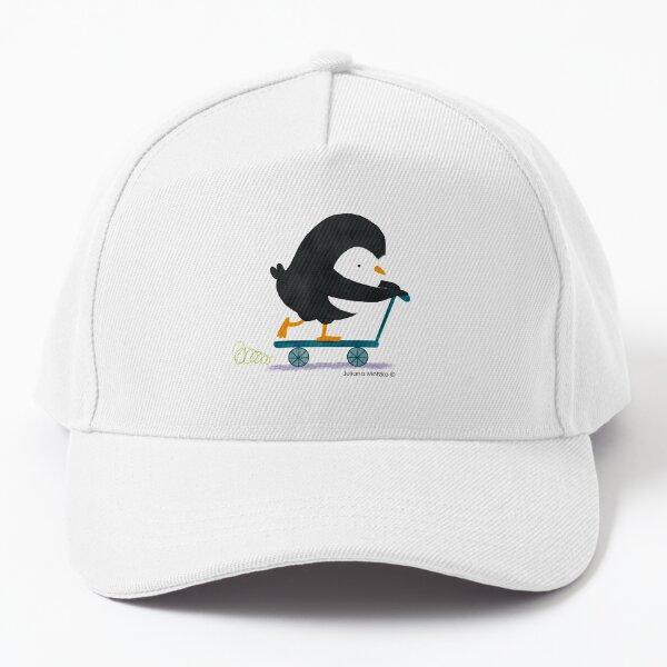 Penguin on Scooter Baseball Cap