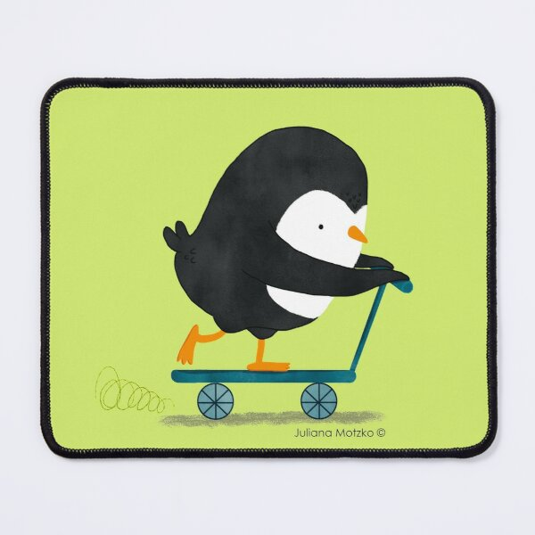Penguin on Scooter Mouse Pad