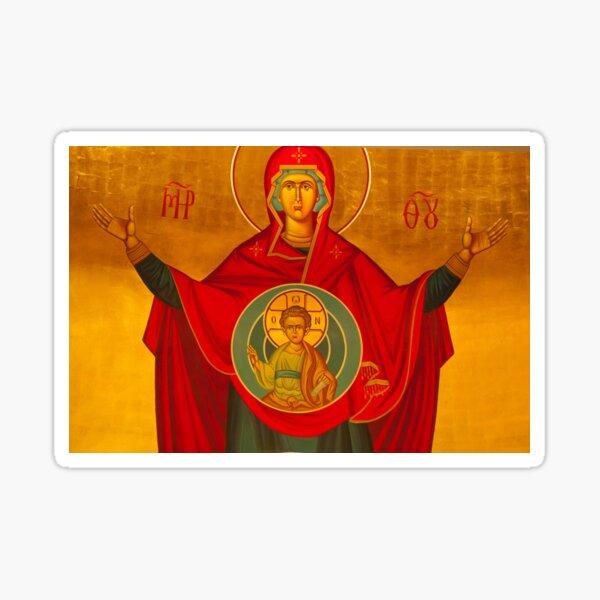 Platytera ('More Spacious than the Heavens') Icon Sticker