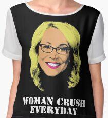 Doris Burke Woman Crush Everyday Drake  Chiffon Top