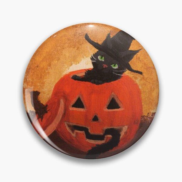 Halloween Cat Painting Pin