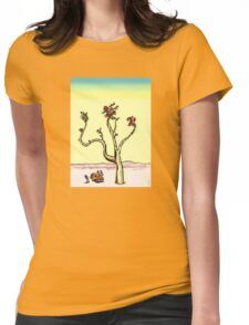 Psychedelic Desert Plant Womens Fitted T-Shirt