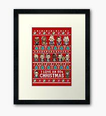 lil 80s Movie Christmas Jumper Framed Print