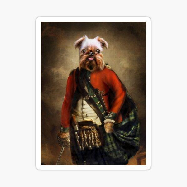 Griffon Bruxellois Dog Portrait - Jack Sticker