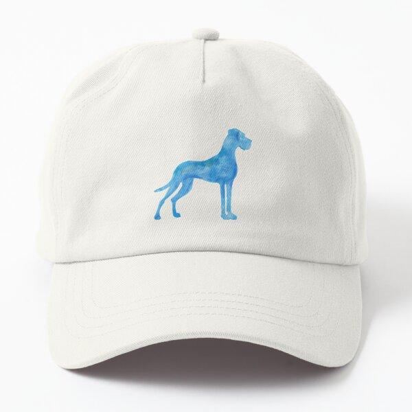 Blaue Dogge Wasserfarben Dad Hat