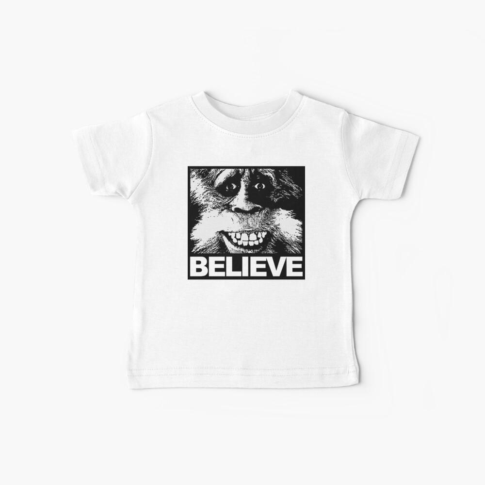 Glauben Sie an Bigfoot Baby T-Shirt