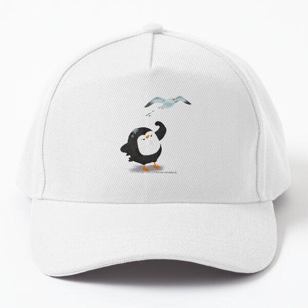 Grumpy Penguin and the Seagull Baseball Cap