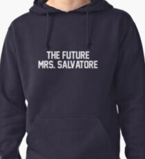 The Future Mrs. Salvatore-- White Pullover Hoodie