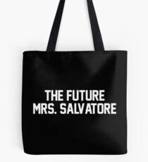 The Future Mrs. Salvatore-- White Tote Bag