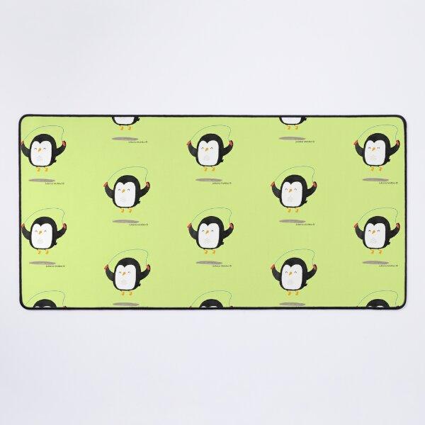 Penguin jumping rope Desk Mat