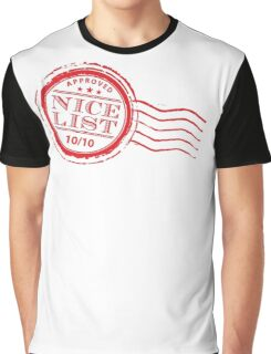 Santa's NICE LIST in red 10/10 Graphic T-Shirt