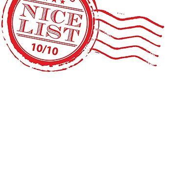 Santa's NICE LIST in red 10/10 by edgeplus