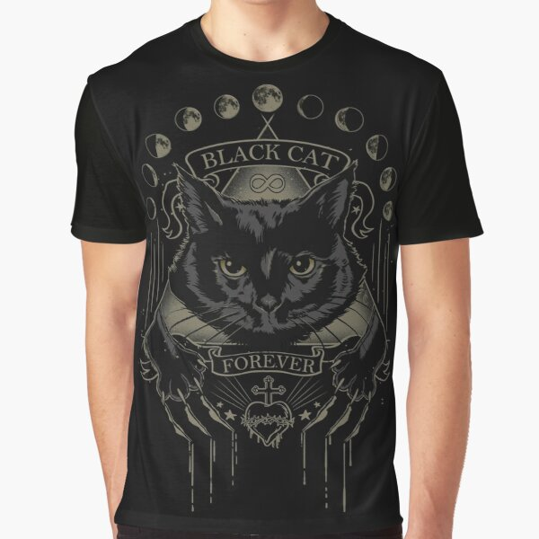 Black Cat Cult Graphic T-Shirt