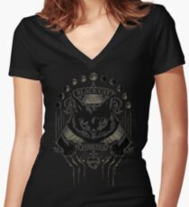 Black Cat Cult Women's Fitted V-Neck T-Shirt