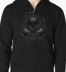 Black Cat Cult Zipped Hoodie
