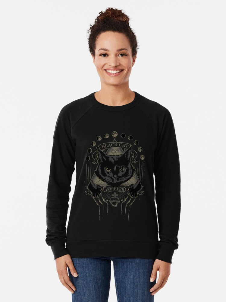 Alternative Ansicht von Schwarze Katze Kult Leichter Pullover