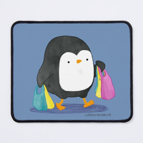 Penguins love shopping! Mouse Pad