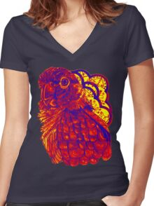 Sunset Conure Women's Fitted V-Neck T-Shirt