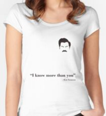 I know more than you. Women's Fitted Scoop T-Shirt